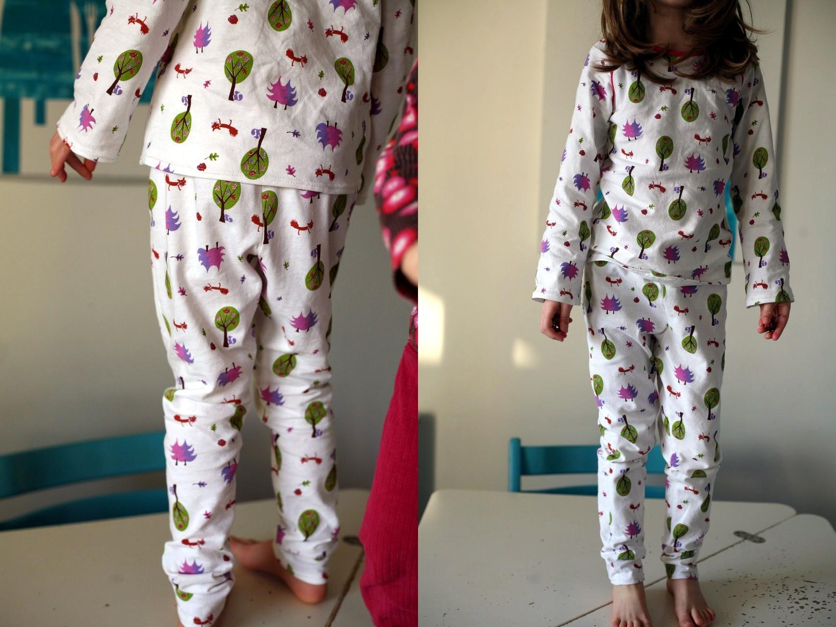Top Pyjama patrons Ottobre Chillax et Slim-fit jersey top | Jaune Coton BN07
