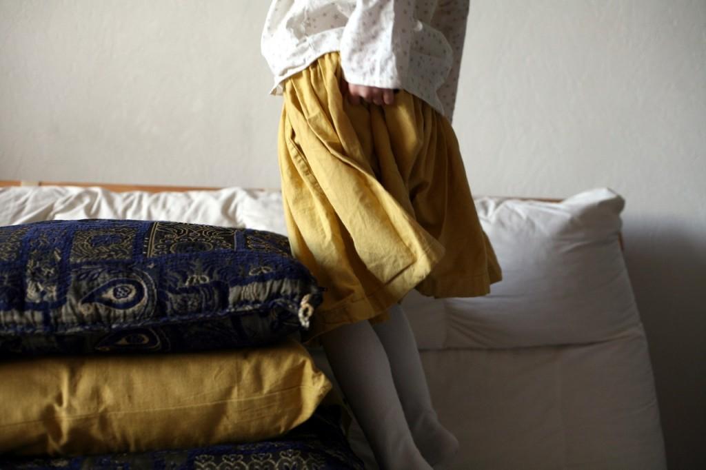 jupe jaune